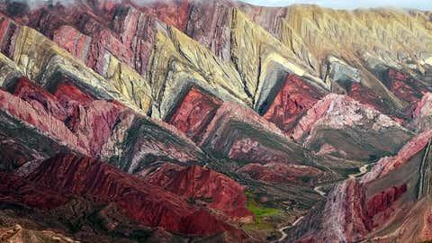 """Der """"Berg der sieben Farben"""". Foto: GettyImages"""