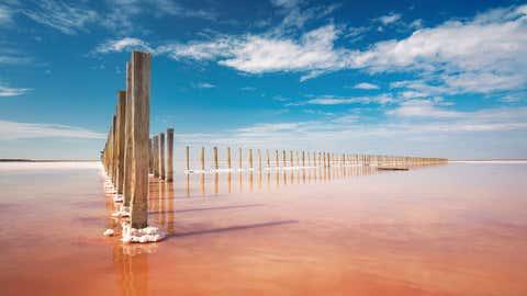 Der stillgelegte Salzsee verbreitet einen unerträglichen Gestank. Foto: GettyImages