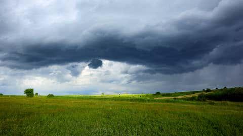 Stormy sky.