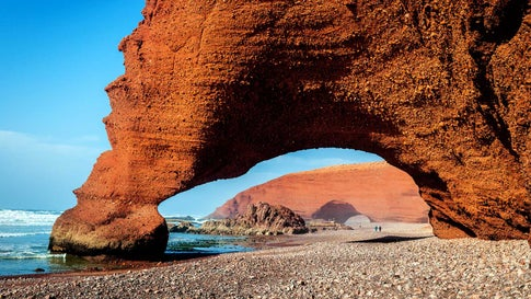 Camel Fuß Legzira Sidi Ifni, Marokko, Nordafrika Beautiful Atlantic coast feature,Legzira, Sidi Ifni, Morocco,