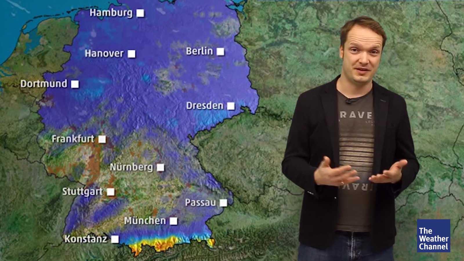 Schneeschauer statt Sonne: Arktische Luft bringt Temperatursturz