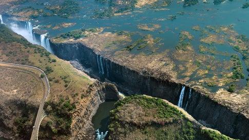 Vom Wasserfall zum Rinnsal: Die Victoriafälle trocknen aus