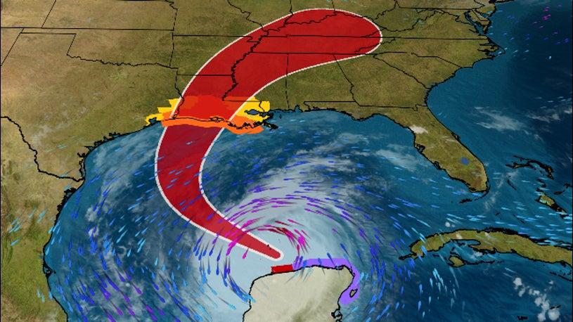 Hurricane Delta to Strike Gulf Coast, Including Laura-Ravaged Louisiana, Friday With Storm Surge, Winds, Flooding Rain