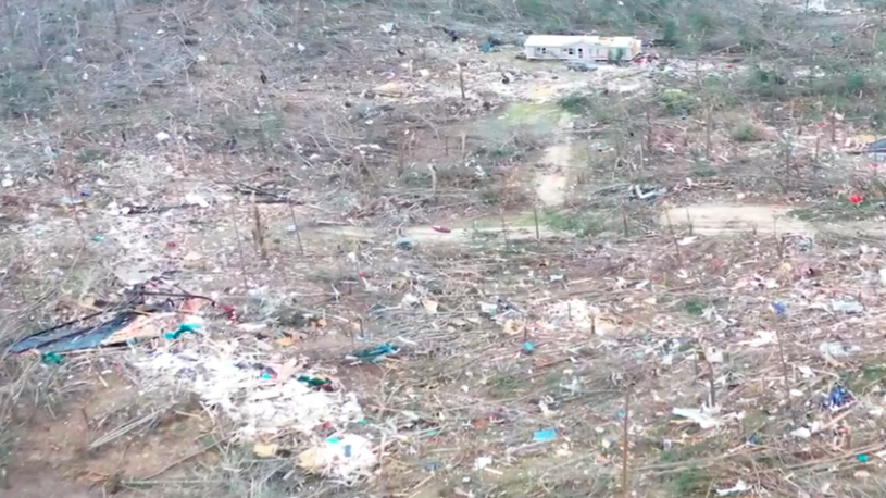 In Beauregard, Alabama, Ground Zero of Tornado Damage, 23 Dead, 40 Injured