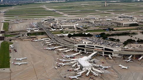 General view of Dallas/Fort Worth International Airport (DFW) on June 12, 2019, (DANIEL SLIM/AFP via Getty Images)