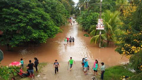 Inundaciones en El Progreso, Yoro, por desbordamiento del río Ulúa. (Cortesía de La Prensa de Honduras)