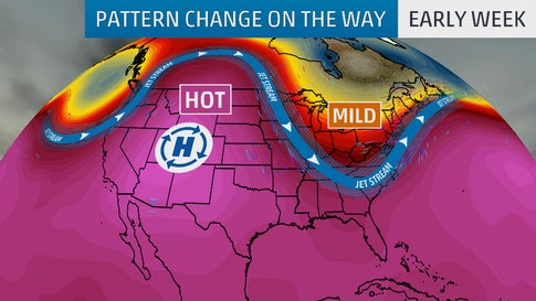 Pattern Change Will Bring Heat Relief to the Plains, Midwest and East