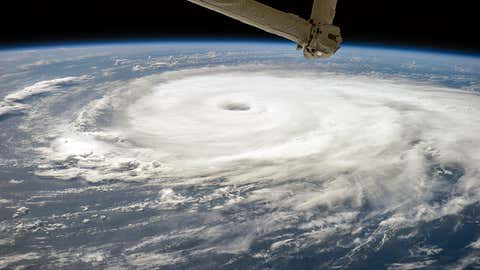 This photograph of Hurricane Edouard was taken from the International Space Station (ISS) by astronaut Reid Wiseman on September 16, 2014