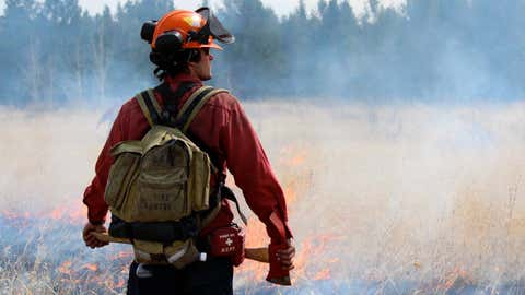 FILE: An undated photo showing a BC Wildfire Service member. (Courtesy BC Wildfire Service)