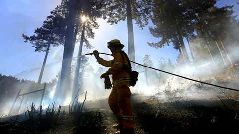 Controlled burns can assist with fire control by eliminating materials that could fuel a wildfire.
