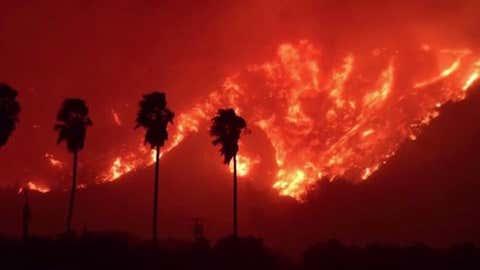 California wildfire/Video Still