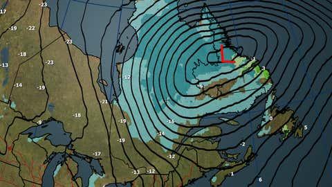 Canada National Forecast: Thursday, Dec. 14 weather and maximum temperatures (C)
