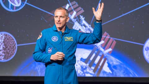 Canadian astronaut David Saint-Jacques discusses his upcoming mission to the International Space Station at the Canadian Space Agency headquarters in Saint Hubert, Que. on Wednesday, November 29, 2017. (Ryan Remiorz/THE CANADIAN PRESS)