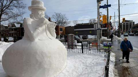 A snowy tribute to the late Tragically Hip singer (Provided by K-Rock)