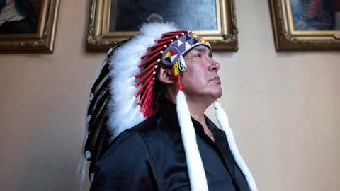 Grassy Narrows First Nation Chief Roger Fobister on Monday, August 24, 2015. (Chris Young/THE CANADIAN PRESS)