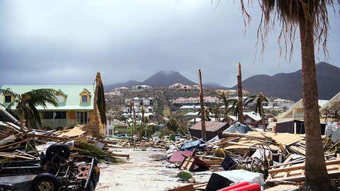 The wreckage left by Hurricane Irma on the island of Saint-Martin (Lionel Chamoiseau/AFP/Getty Images)