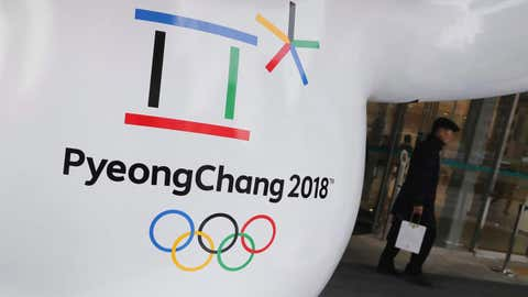 The official emblem of the 2018 Pyeongchang Olympic Winter Games is seen in downtown Seoul, South Korea on January 4, 2018. Climate change could turn out to be the Winter Olympics' biggest spoil sport. (THE CANADIAN PRESS/AP, Lee Jin-man)