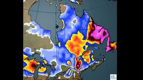 Snowfall through Thursday (CM):