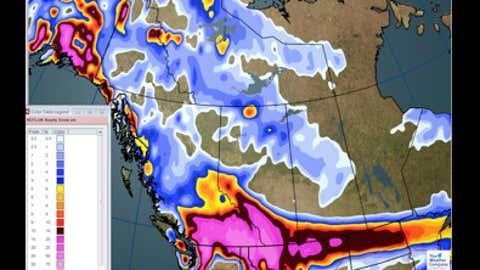 Snowfall through Thursday, Dec. 21 (CM):