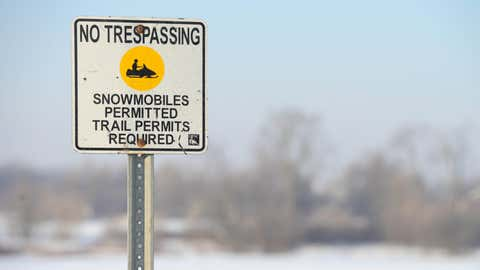 A Snowmobile trail, Breslau, Ont., Feb. 8, 2014. THE CANADIAN PRESS IMAGES/Stephen C. Host