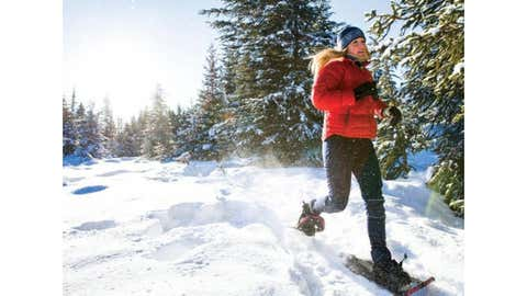 Woman snowshoeing/Masterfile via Chatelaine