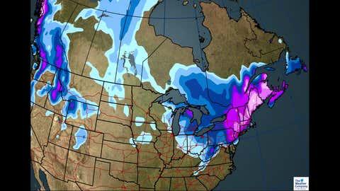 Total Snowfall Through March 9.