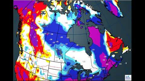 Tuesday, Jan. 2, maximum temperatures and departures