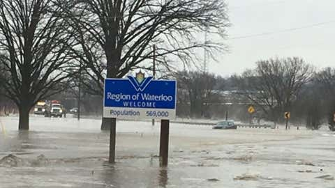 Flooding in Wellesley Township, photo courtesy of 570 NEWS listener Deb Gascho.
