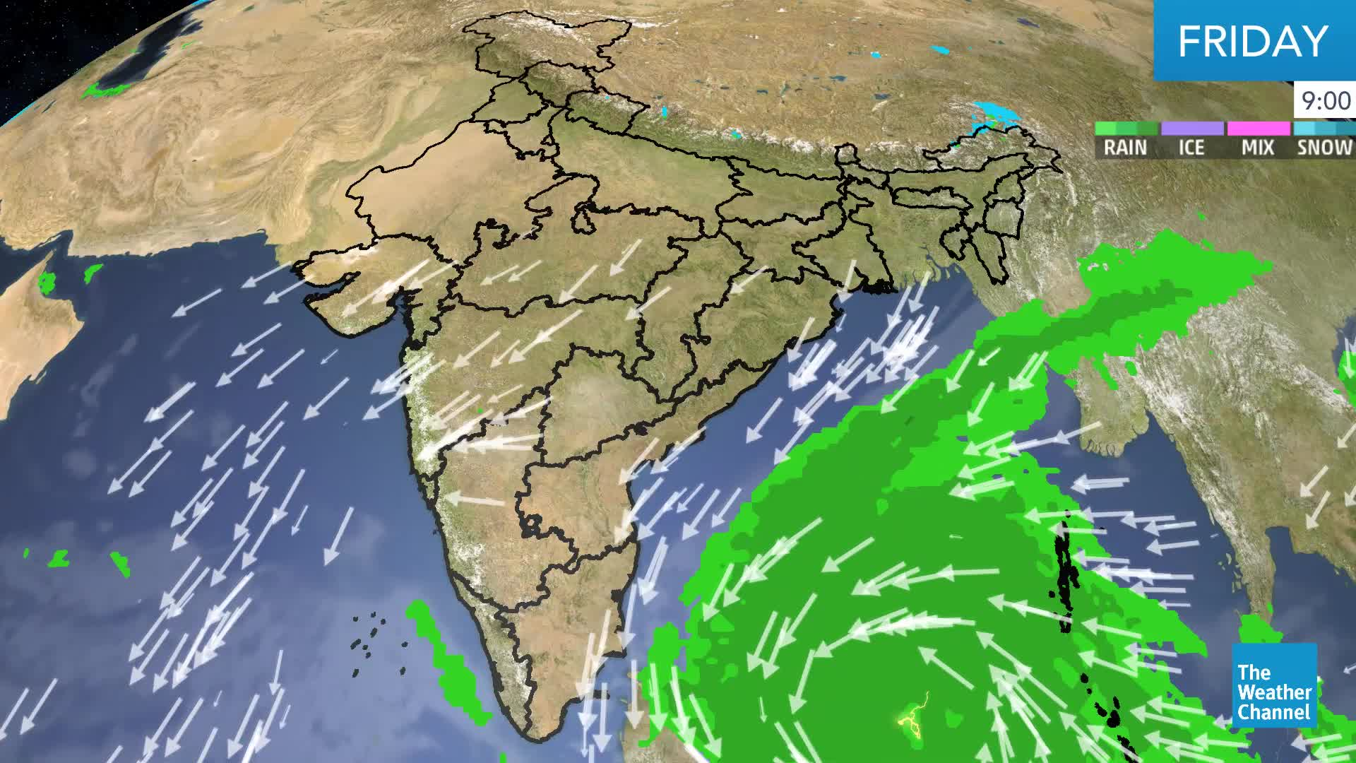 Cyclone Phethai May Make Landfall in Andhra Pradesh Monday Night