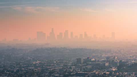 Imagen del paisaje de California, bajo la polución. WESTEND61 / GETTY