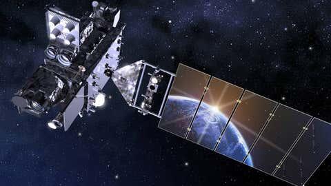 Una representación artística del satélite GOES17 / NASA