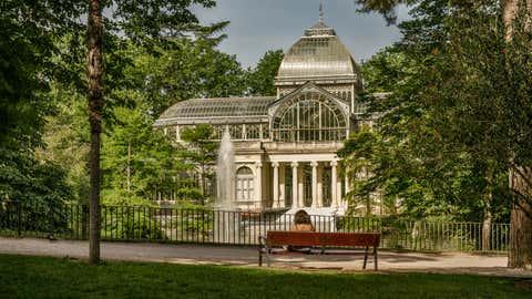 El parque del Retiro, en Madrid, tiene más de 19.000 árboles y un nivel de alergenicidad medio. VICENTE MÉNDEZ / GETTY
