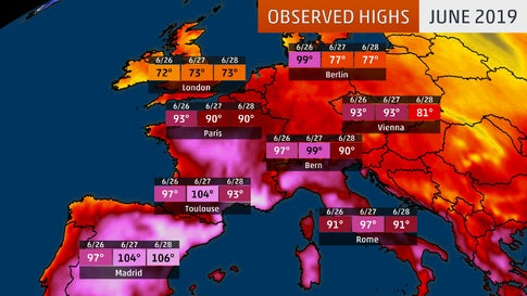 Map Of France Over Time.European Heat Wave Shatters June Records In 8 Nations France Set A
