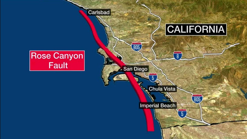 Fault Long Thought to Be Inactive Could Threaten San Diego