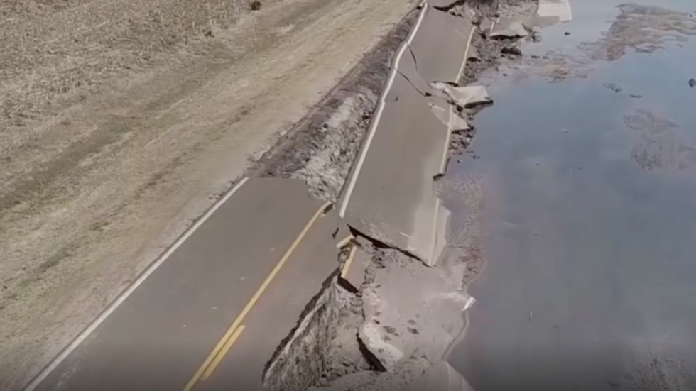 Newly Released Video of Nebraska Flooding in Mind-numbing