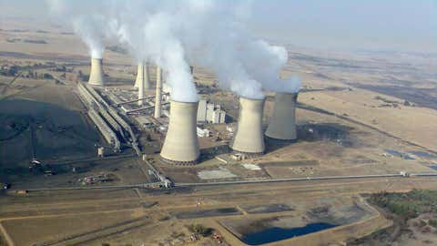 Une centrale à charbon dans la région de Mpumalanga, en Afrique du Sud. (Gerhard Roux)