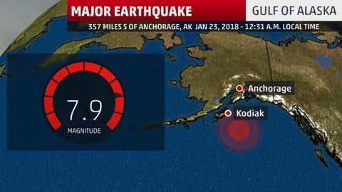 Le tremblement de terre qui a secoué l'Alaska a eu lieu dans une zone à risques. (TWC)
