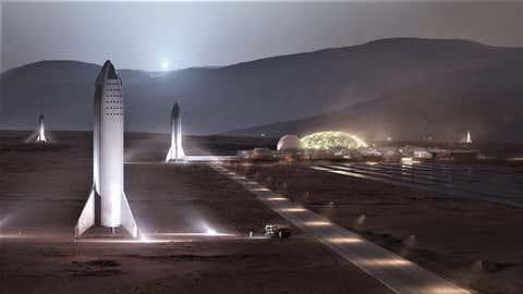 L'entrepreneur souhaite défaire ses cartons sur Mars en 2028. (Twitter/Elon Musk)