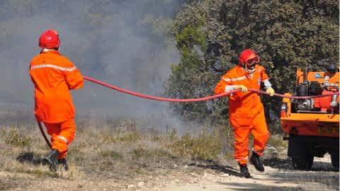 Les bénévoles des Comités communaux des feux de forêts et des réserves communales de Sécurité Civile des Bouches-du-Rhône (ADCCFF 13) (Crédit Jean-Louis Jauffret)