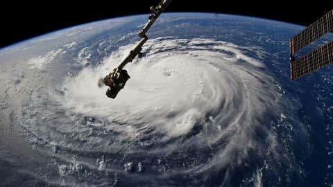 L'ouragan Florence, vu de la station spatiale internationale. (NASA)