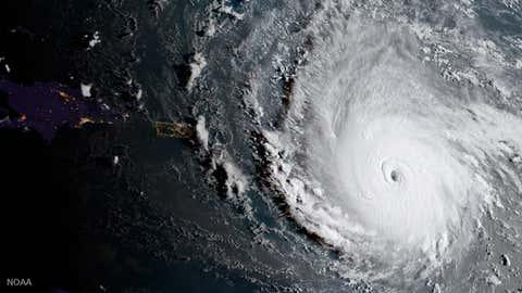 Vue aérienne de l'ouragan Irma (GettyImages)