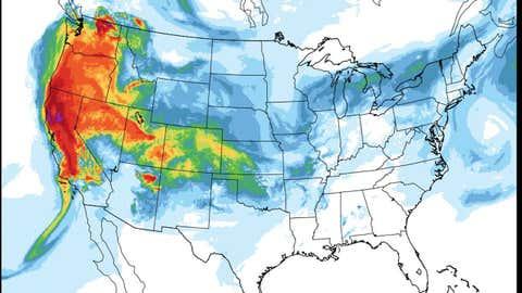 Dans l'ouest, la qualité de l'air est devenue problématique. (National Weather Service)