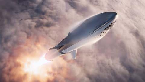 La fusée BFR, telle que présentée par SpaceX (Twitter/Elon Musk)