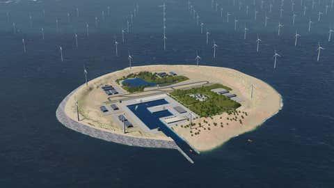 Le projet ambitieux pourrait fournir de l'électricité propre à six pays. (Crédit TenneT)