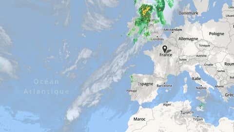 Leslie devrait atteindre Madère dès demain matin, avant de continuer saroute. (weather.com)