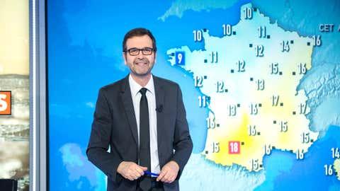 Le bulletin météo de CNEWS, présenté par Thierry Fréret (CNEWS/Xavier Lahache)