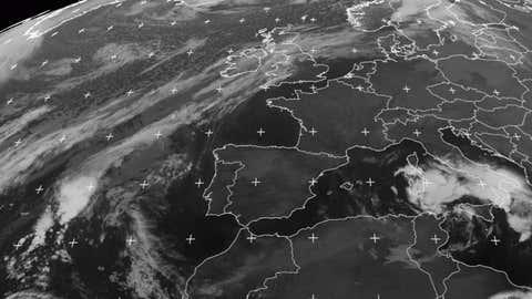Une autre vue de la depression en cours, fournie par le réseau Eumetsat.