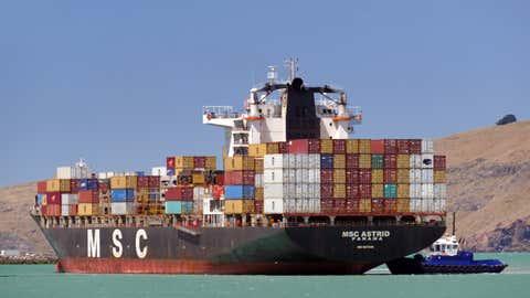 Les boites de transports sont tombés d'un navire pendant un coup de vent. (Illustration/CCO)