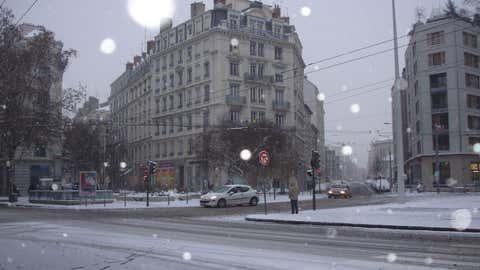 La neige pourrait provoquer des difficultés de circulation dans la région lyonnaise. Ici, Lyon en 2010. (Illustration/CCO)