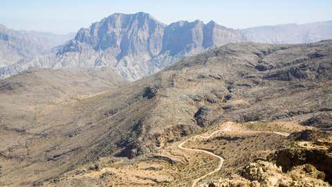 Le mercure a passé 24 heures au-dessus des 42,6°C, même en pleine nuit. Ici, les montagnes désertiques d'Oman (CCO)